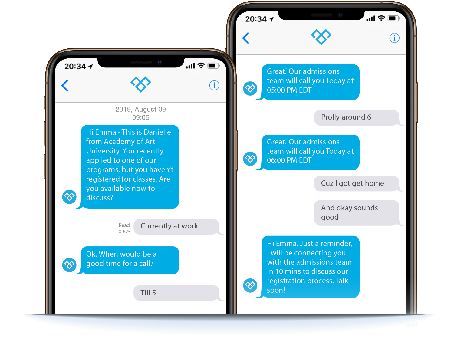 Image showing sales enquiry using Meera conversation AI on mobile phone