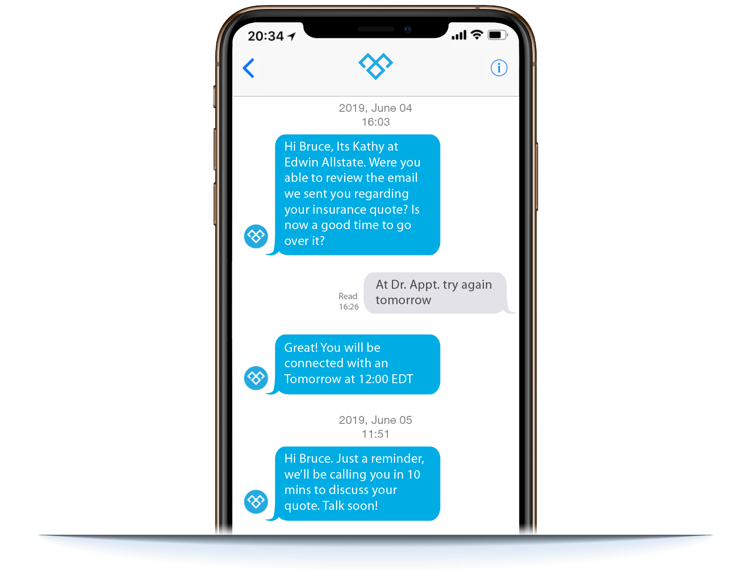 Converting an enquiry into lead using Meera AI on mobile phone