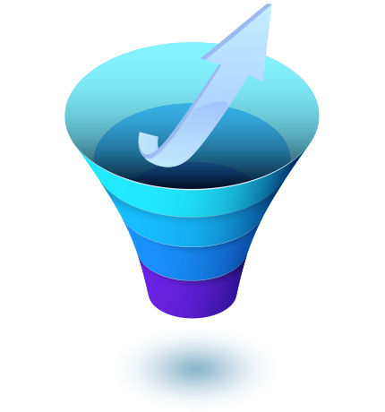 Sales funnel growth arrow icon - Boost meeting rates with Meera AI