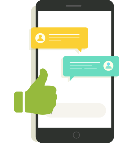 Mobile phone chat conversation icon